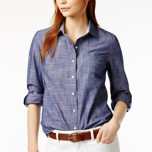 Tommy Hilfiger Denim Chambray Button Down Shirt